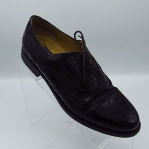 Nordstrom Shoes Size 8 M Black Leather Wing Tip